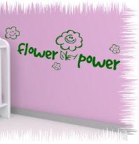 Wandtattoo Kinderzimmer  flowerpower 60x22 cm