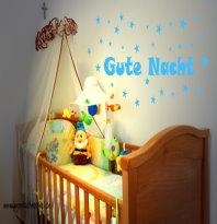 Wandtatto fürs Kinderzimmer Gute Nacht