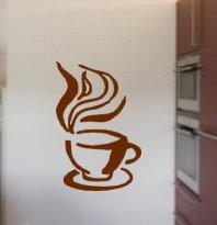 Wandtattoo Wandsticker Küche  Kaffeetasse
