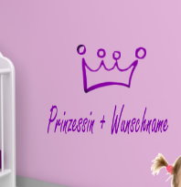 Prinzessin + Wunschnamen 30x20