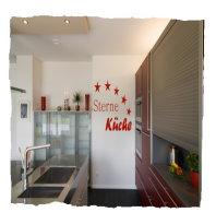 Wandtattoo Fünf Sterne Küche 40x40